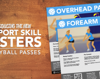 Volleyball Passes QR Skill Posters
