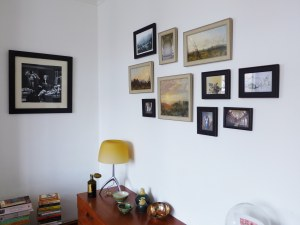Collage of pictures hung for Martyn in Seven Dials, Brighton