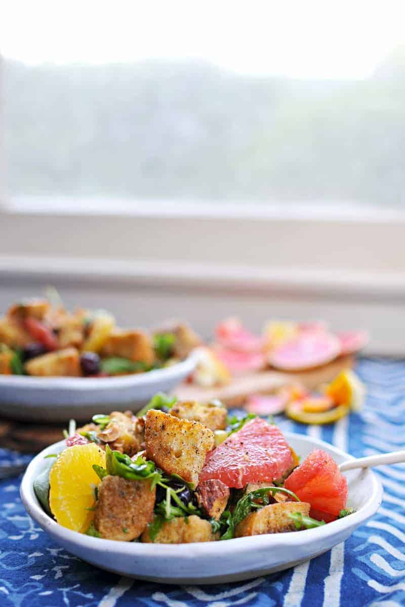 Holiday Panzanella with Duck-Fat Roasted Croutons, Winter Citrus + Hazelnuts recipe (via thepigandquill.com) #dairyfree #holiday #salad