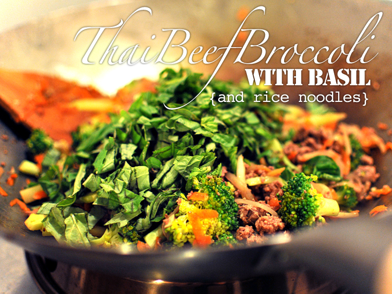 Thai Beef Broccoli With Basil & Rice Noodles