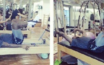 LeBron James Does Pilates