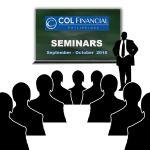COL Financial Stock Market Seminars – September & October 2016