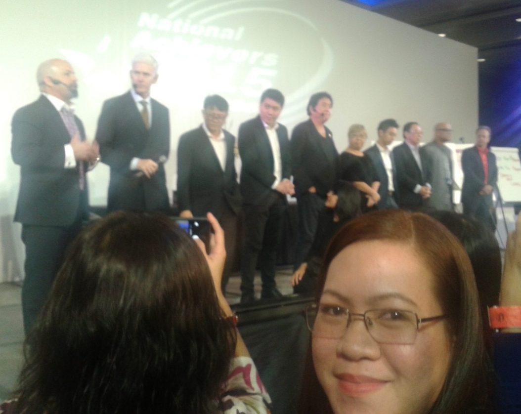 With Robert Kiyosaki on stage
