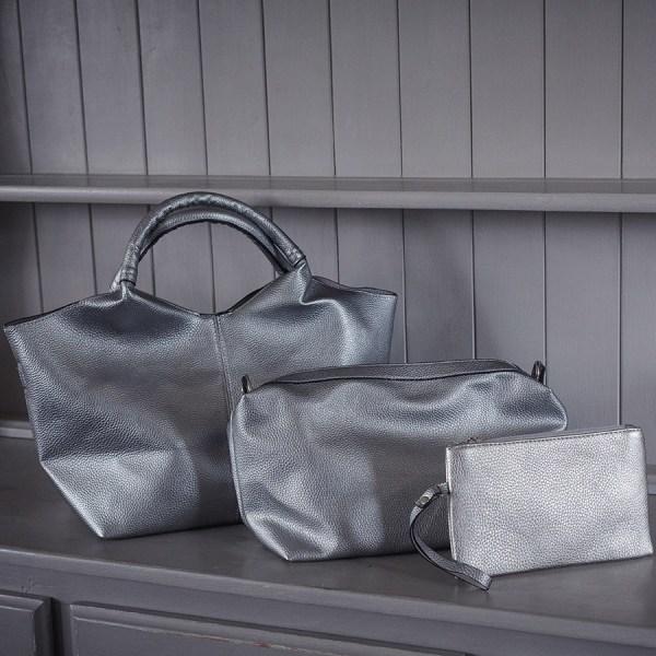 Silver Trio of Bags