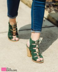Kyra Suede Lace Up Heel