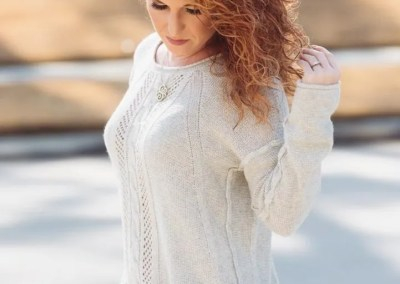 Stitch Fix Adelene Scoop Neck Cable Knit Sweater