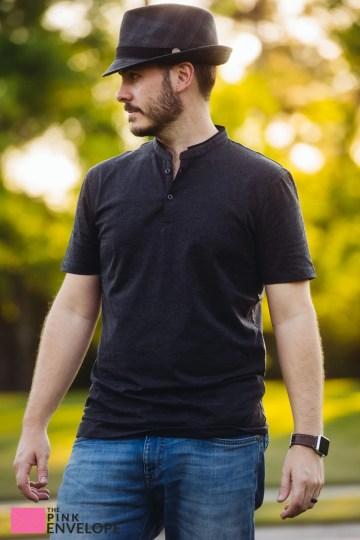7 Diamon Carnegie Band Collar Tshirt