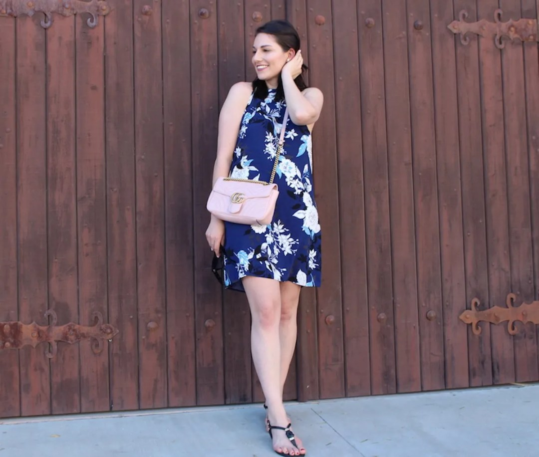 Stitch Fix Blue Floral Dress