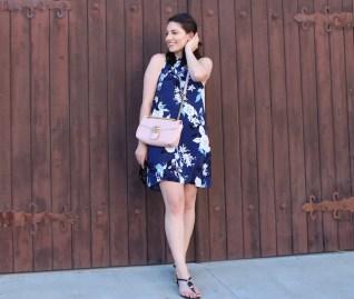 Stitch Fix Blue Floral Dress