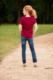 Emory Park Dulce Knit Just USA Ailsa Distressed Released Hem Slim Straight Leg Jeans
