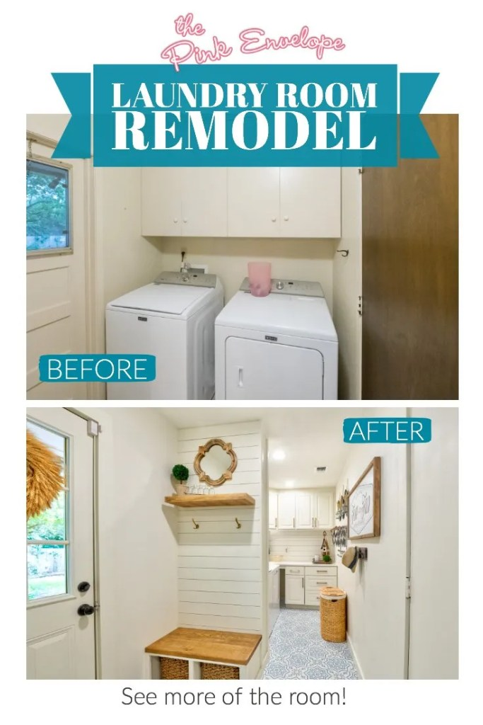 Laundry Room Remodel Before and After