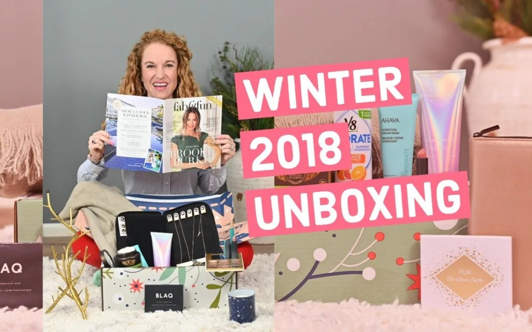 FabFitFun Winter 2018 Box Unboxing
