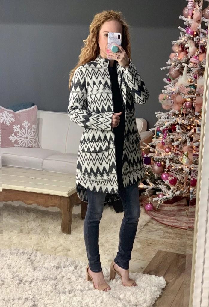 BB Dakota Chevron Fleece Coat