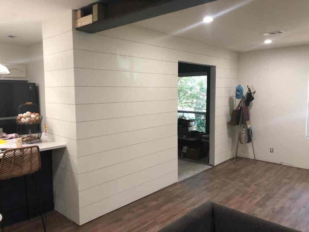Shiplap Office Wall