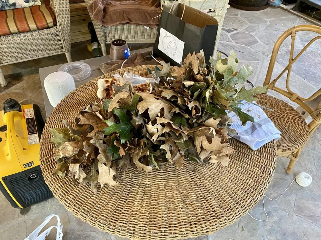 DIY real leaf garland