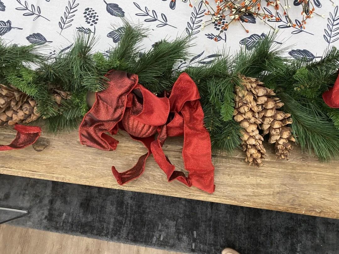 old christmas garland