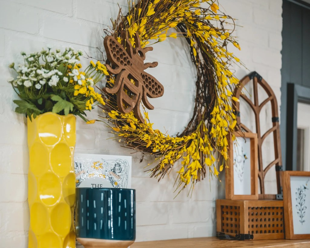 Yellow and honeybee decor