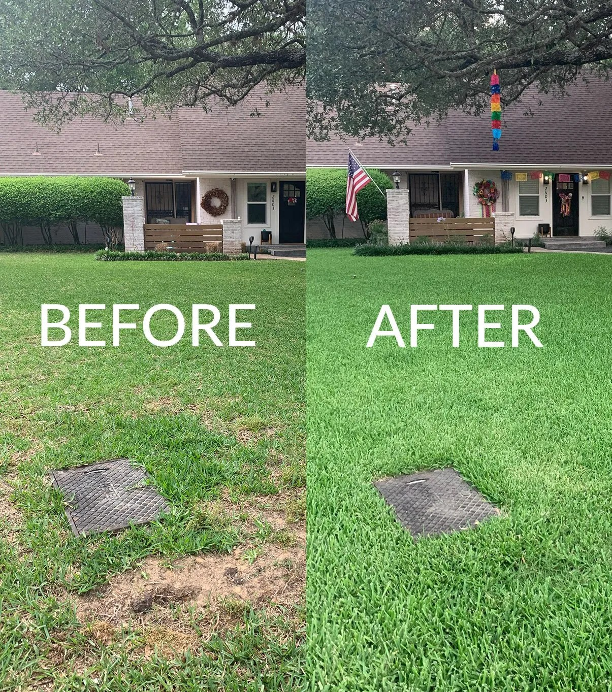 Sunday Lawn Before and After