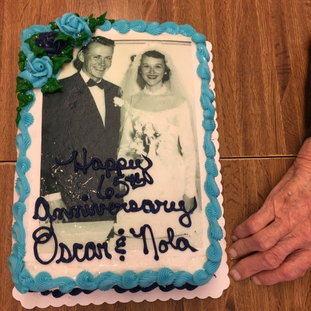 A 1951 wedding memory on their 65th anniversary cake!