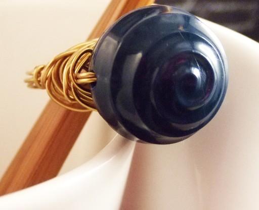 Navy Shiny Ring
