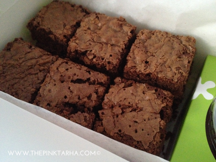 Brownie bites, SR 20 for 5 pieces, SR 80 for 24