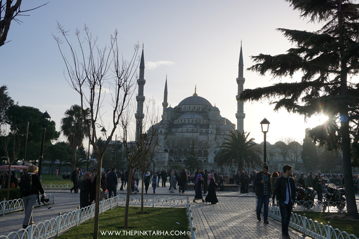The Blue Mosque on a winter afternoon.