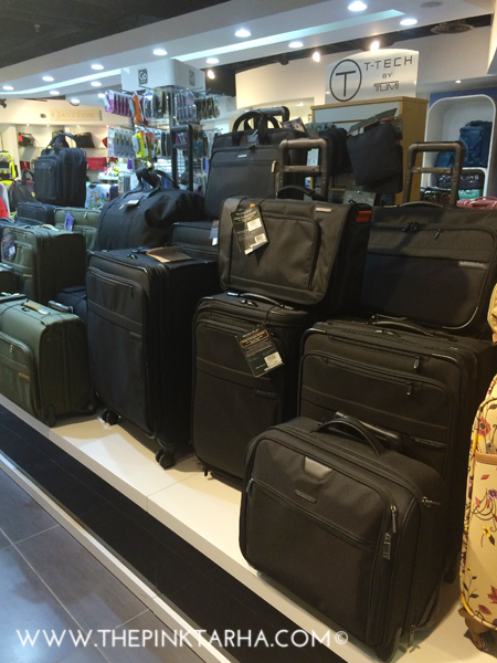 Here are some standard, classic black luggage.