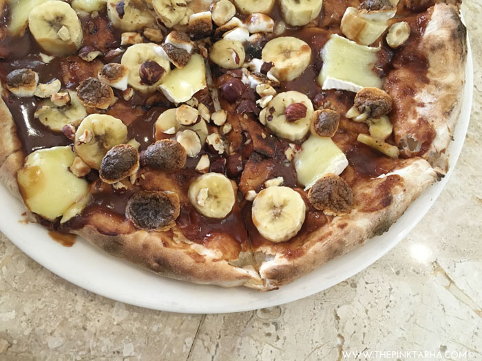 The Nutella Pizza is best for dessert, and sharing!