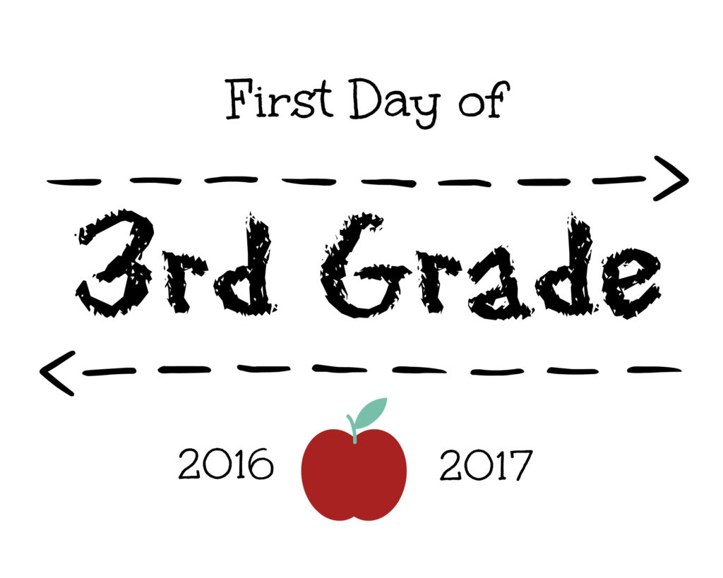 First Day Of 3rd Grade Sign