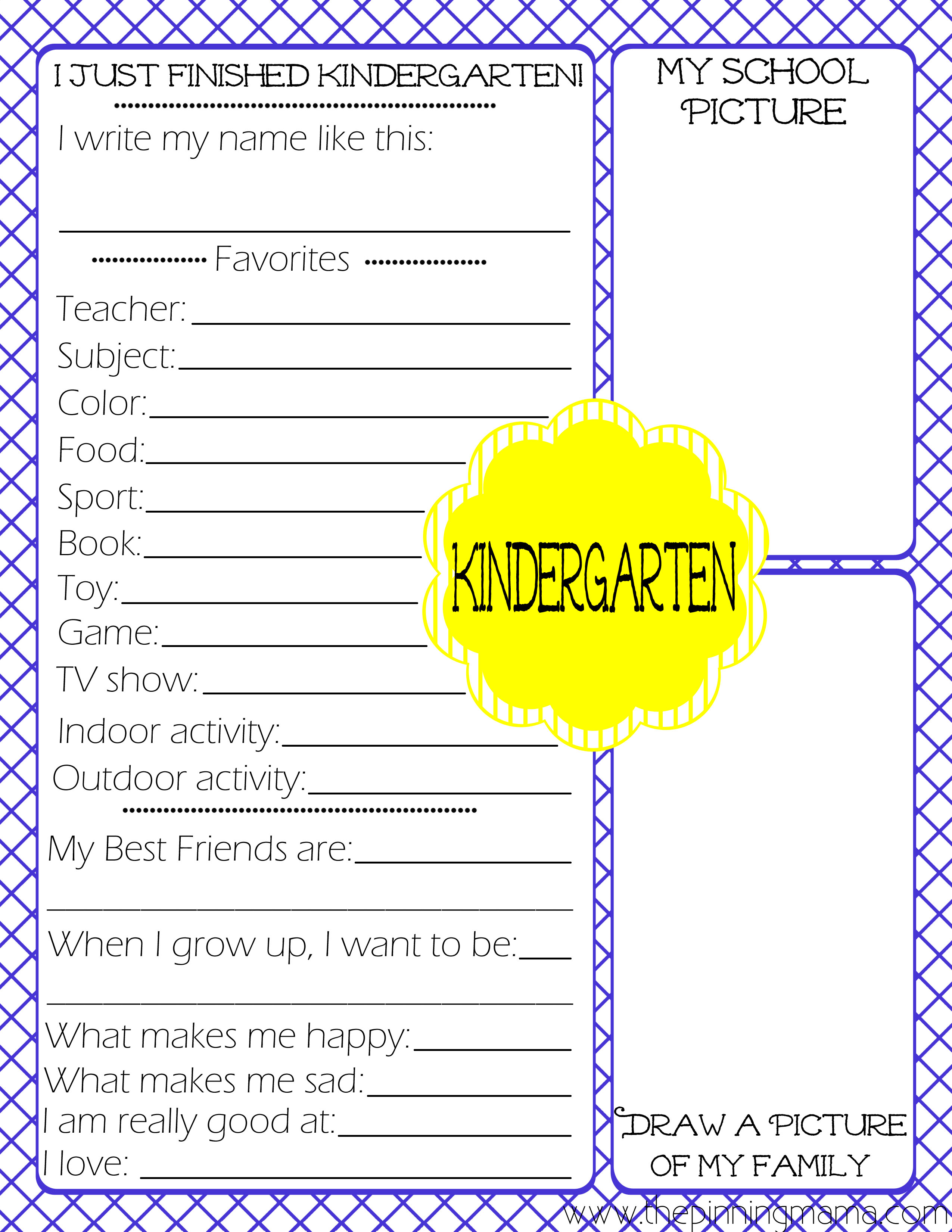 Free Printables Kid S End Of School Year Interview The