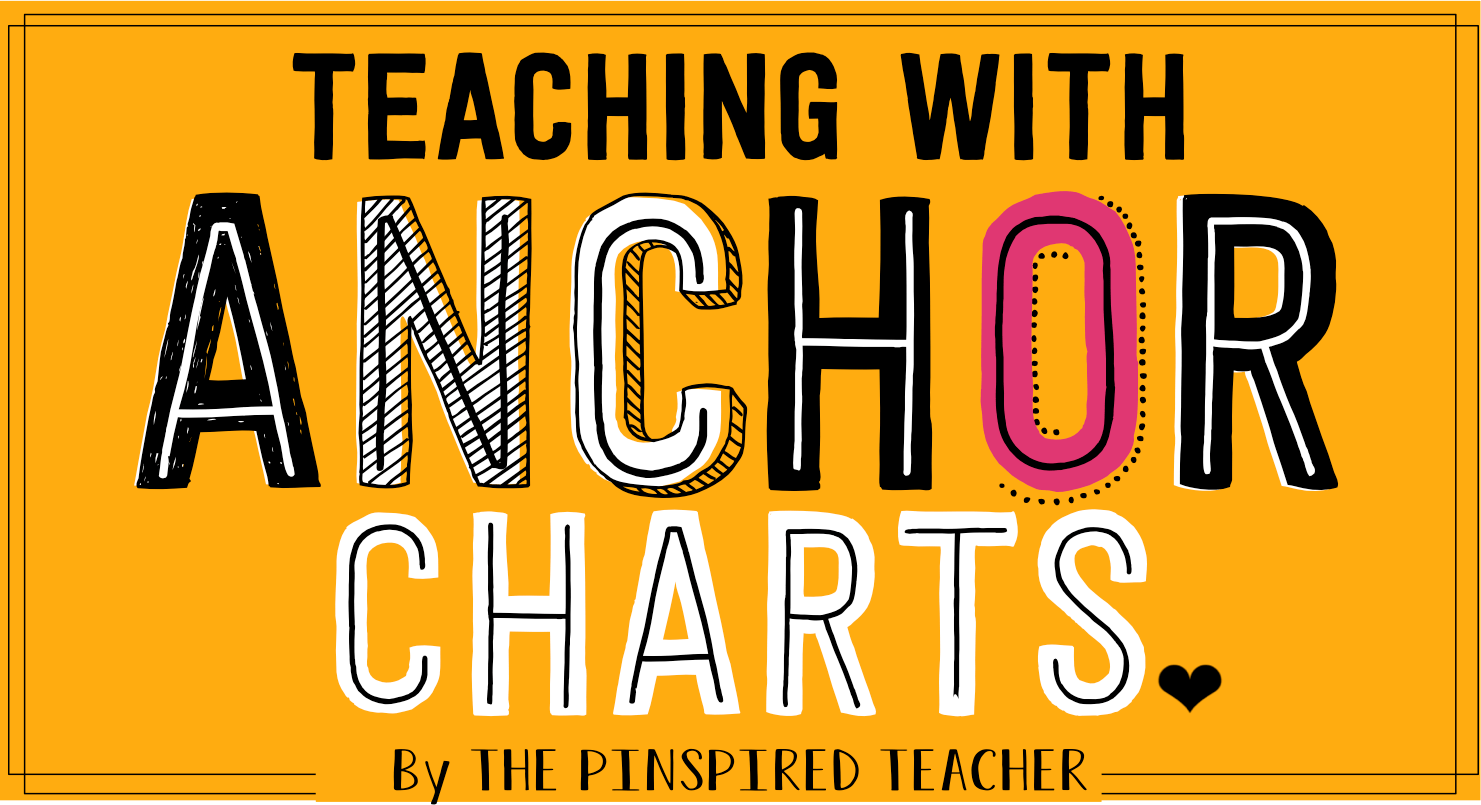 Anchor Charts Anchor Charts and More Anchor Charts by THe Pinspired Teacher