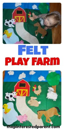 Felt play farm - fun activity for toddler & kids - felt arts & crafts