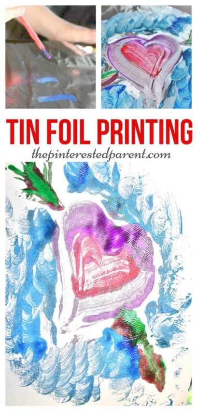 Paint on tin foil & then press onto a piece of paper for a beautiful painted transfer painting. A great srts & crafts activity to do with the kids.