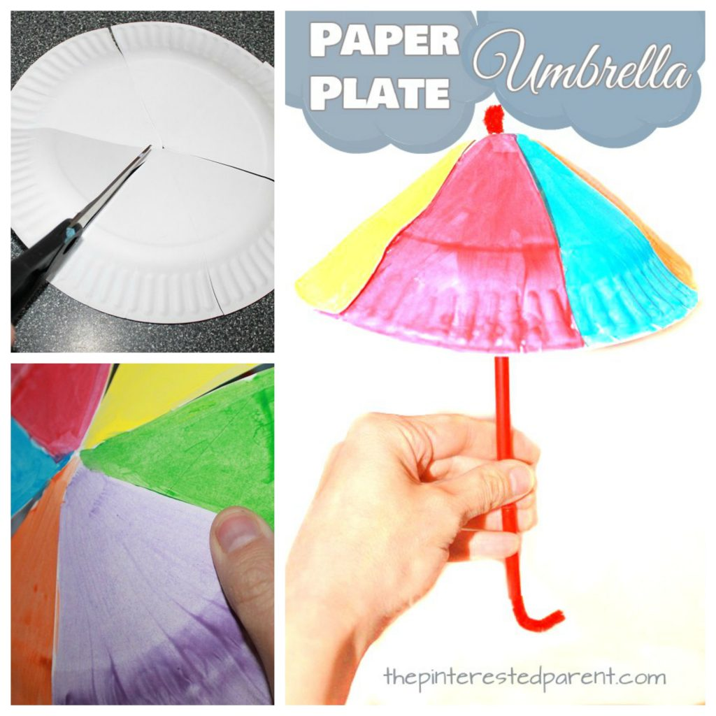 Paper Plate Umbrella Craft The Pinterested Parent