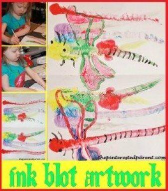 Ink Blot artwork craft & activity for kids