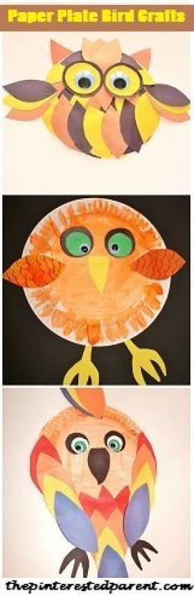 Paper Plate Bird Crafts