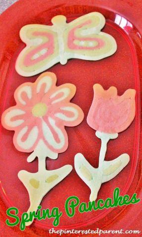 Spring Pancakes - pancake art