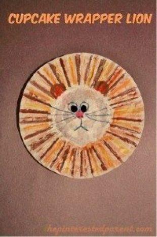 Cupcake Wrapper Lion