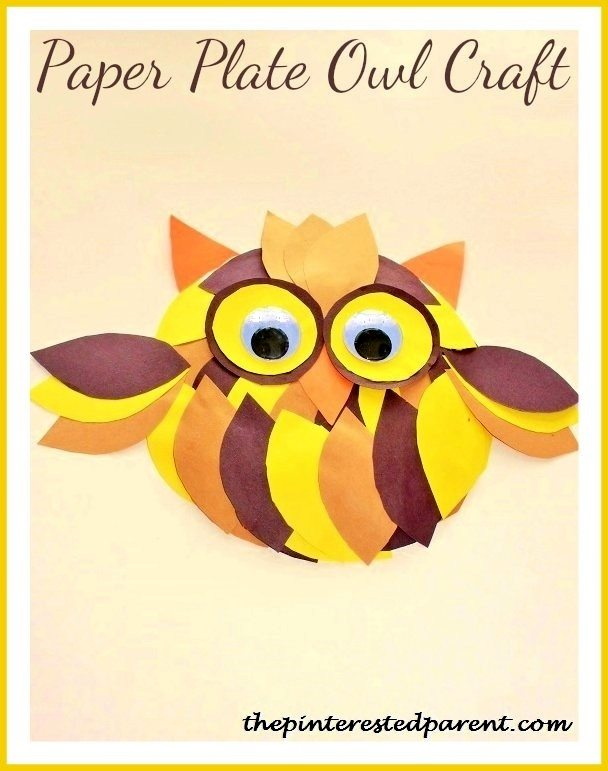 Paper Plate Owl  sc 1 st  The Pinterested Parent & 10 Cute Owl Crafts For Kids \u2013 The Pinterested Parent