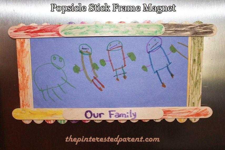 Popsicle Stick Frame Magnet – The Pinterested Parent