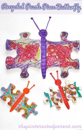 Recycled Puzzle Butterfly