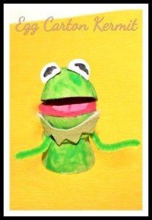 Egg Carton Kermit