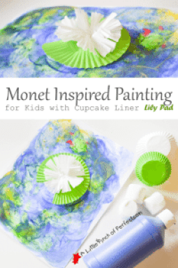 Monet Inspired Water and Lily Pad Painting A Little Pinch of Perfect Title 3 copy