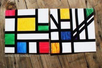 Piet-Mondrian-Style-Abstract-Art-Activity-for-Kids
