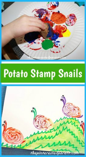 Potato Stamp Snails
