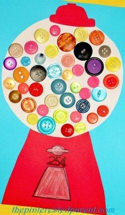 Button Gumball Machine Craft