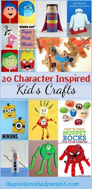 20 Character Inspired Kids Crafts The Pinterested Parent