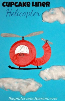 Cupcake Liner Helicopter Craft
