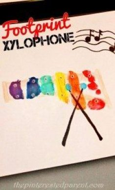 Footprint Xylophone Craft