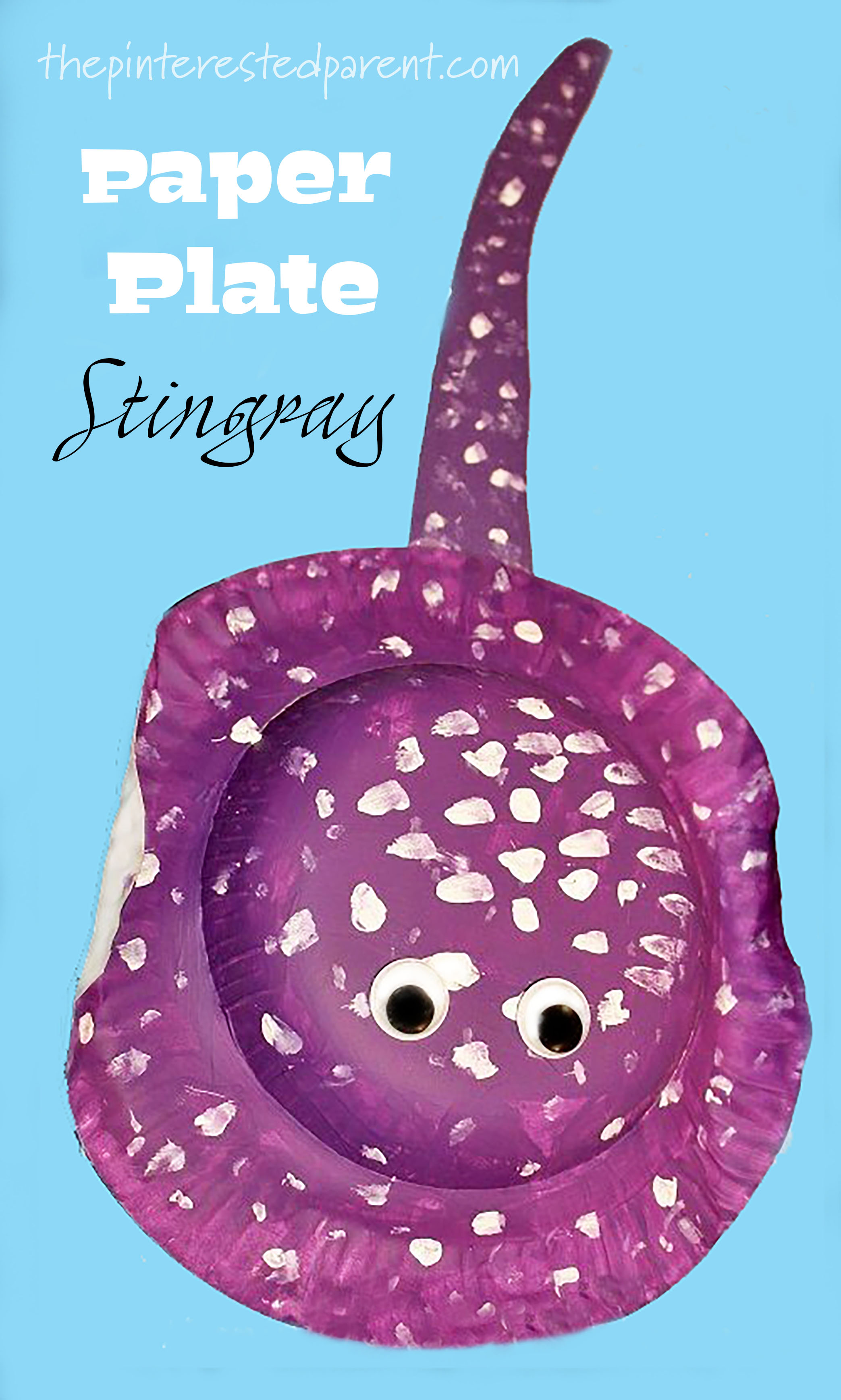 Paper Plate Stingray Craft The Pinterested Parent